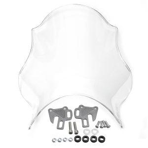 Front Motorcycle Windshield Windscreen Universal For Honda Yamaha Kawasaki Suzuki