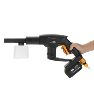 21V Cordless Rechargeable Washer High Pressure Hose Cleaner+ 10000mA Battery