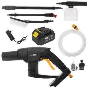 21V Cordless Pressure Washer Cleaner Water Hose Nozzle Kit + Battery/Charger