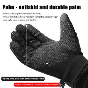 Men Women Touch Screen Gloves Winter Waterproof Warm Windproof Riding Skiing Sports Outdoor Fleece Lined Thermal