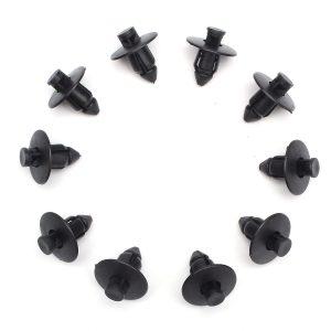 20pcs 8mm Rivets Trim Panel Fairing Clips Plastic Black For Suzuki Bumpers Sills Motorcycle 09409073085PK