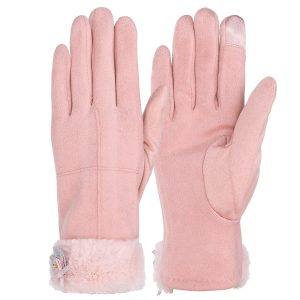 Pair Warm Female Women Winter Gloves Touch Screen Outdoor Windproof Motorcycle Full Finger