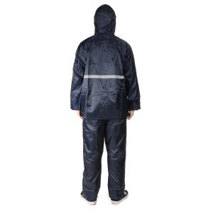Waterproof Motorcycle Rain Suit Raincoat Coat With Trousers Set Bycycle Reflective Thickem