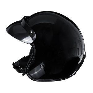 Vintage Motorcycle Helmet 3/4 with Visor Lens Half Face Scooter Safety