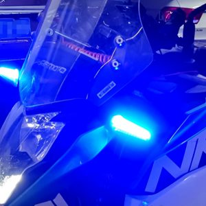 Pair Motorcycle Dynamic LED Turn Signal Indicator + Neon Glow EL DRL Stop Lights