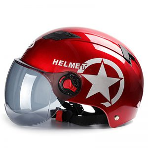 Head Protector Bike Motorcycle Scooter Helmet Fashion Anti-UV Half Face Hat Baseball Cap
