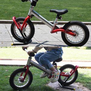 Kid Adjustable Bicycle Parking Rack Child Bike Balance Car Auxiliary Metal Frame