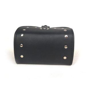 Motorcycle Bike Side Saddlebags Storage PU Leather Luggage Box Tool Bag Pouch Black