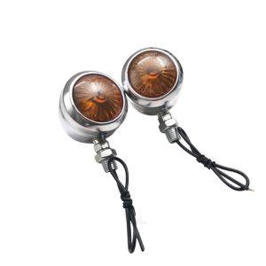 12V Motorcycle LED Turn Signal Lights Indicator Amber For Harley