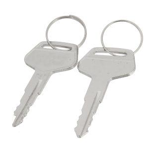 2pcs Iron 787 Silver Keys Keychain for Komatsu Heavy Equipment Excavator Dozer Starter