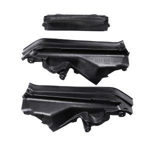 3pcs Engine Upper Cover Compartment Partition Panel Set For BMW X5 X6 E70 E70N E71 Car 51717169420 51717169421
