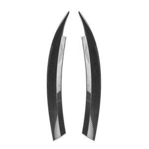 Carbon Fiber Front Headlight Eyelid Eyebrow Trims For VW Scirocco GTS 2008-2017