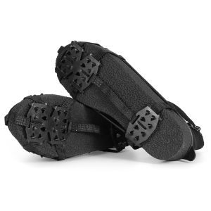 24 Teeth Anti-Slip Ice Grips Gripper Shoes Boot Cleats Spike Snow Chain Crampons