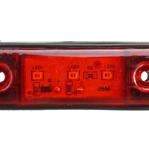 LED Side Marker Indicator Light Waterproof For 12V 24V Trailer Truck Bus Lorry Van