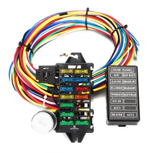 12 Circuit Wiring Harness 14 Fuse 12V Muscle Hot Rod For Street Rod XL Wires Cable