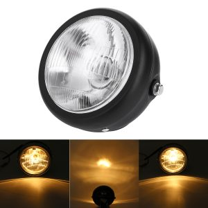 12V H4 35W Motorcycle Headlight HID Hi/Lo Beam Light Lamp Amber Halogen Bulb