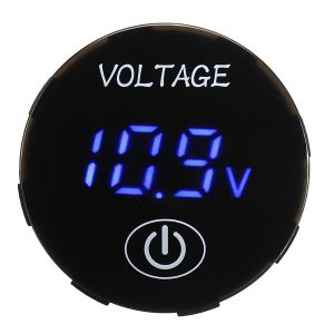 5V-48V Touch Screen LED Digital Voltmeter Battery Capacity Voltage Meter Panel Monitor Switch Panel Kit With iameter Hole Saw