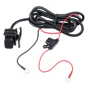 12V 24V 2.1A USB Charger Power Socket Outlet Adapter Waterproof With Fuse 10A For Motorcycle ATV Boat Car