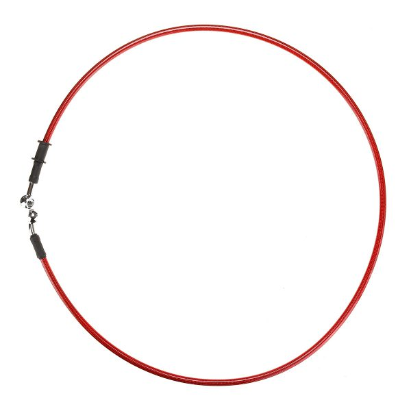 300mm-2200mm Motorcycle Braided Brake Clutch Oil Hose Line Cable Pipe Universal Red