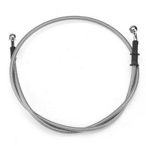 300mm-2200mm Motorcycle Braided Brake Clutch Oil Hose Line Cable Pipe Universal Silver