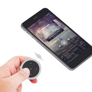 Protable Wireless bluetooth Media Button Smart Phone Motorcycle Handlebar Car Auto Steering Wheel Remote Control Camera Siri Music Play