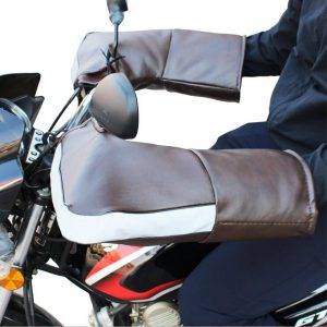 Waterproof Winter Handle Bar Hand Cover Super Warm Gloves With Reflective Strip For Motorcycle Scooter ATV
