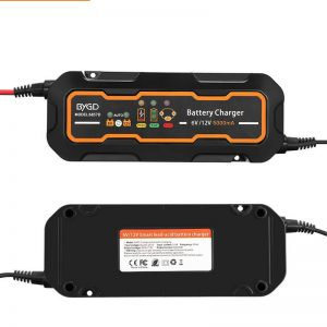 12V/24V Intelligent Battery Charger Automotive Repair For Motorcycle Car Truck AGM GEL Lead Acid Batteries