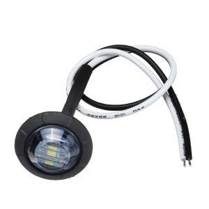 10Pcs White Light 12V-24V LED Clearance Side Marker Indicators Lights Lamp Lorry Truck Boat Trailer Bus