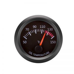 12V Oil Temperature Gauge Vehicle Meter Black Shell 2 Inch 52mm