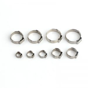 45Pcs Ear Stepless Hose Clamps 304 Stainless Steel Single Assortment Kit 5.8-23.5mm