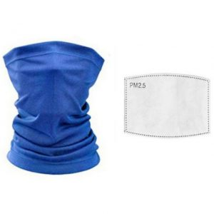 Adult Blue Face Neck Gaiter Tube Bandana Scarf Cover Carbon Filters For Motorcycle Racing Outdoor Sports