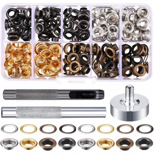 200 Sets Of Inner Diameter 6mm Metal Air Eye + Garment Eye Installation Tool