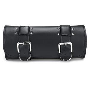 Motorcycle Tool Side PU Leather Side Box Hanging Saddle Bag Black Universal