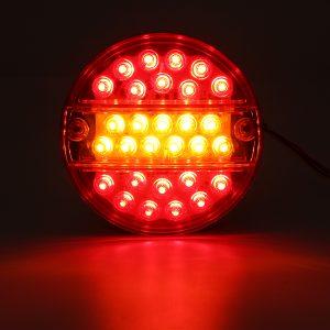 12V Led Tail Light Hamburger Rear Lamp Stop Indicator Brake 4 Function