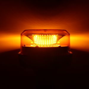 E9 + Flashing LED Beacon Flexble Din Pole Tractor Warning Light 12-24V