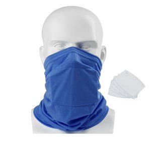 Kids Child Face Mask With 5pcs PM2.5 Filters Tube Scarf Bandana Head Multi-use Motorcycle Bike Riding Neck Gaiter Outdoor