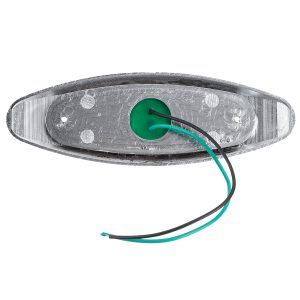 4Pcs Green 24V LED Side Marker Light Flash Strobe Emergency Warning Lamp For Boat Car Truck Trailer