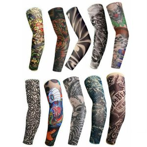 10pcs Tattoo Cooling Arm Sleeves Cover Motorcycle Riding Basketball Golf Sport UV Sun Protection