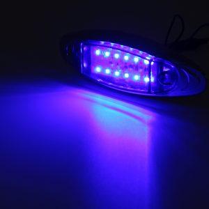 4Pcs Blue 24V LED Side Marker Light Flash Strobe Emergency Warning Lamp For Boat Car Truck Trailer