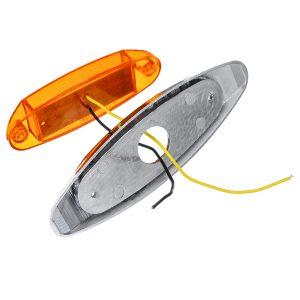 6Pcs Yellow 24V LED Side Marker Light Flash Strobe Emergency Warning Lamp For Boat Car Truck Trailer