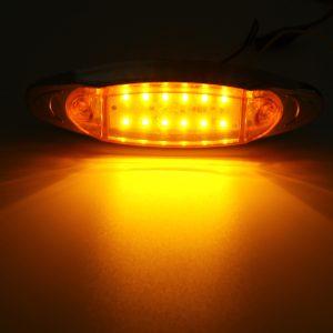 4Pcs Yellow 24V LED Side Marker Light Flash Strobe Emergency Warning Lamp For Boat Car Truck Trailer