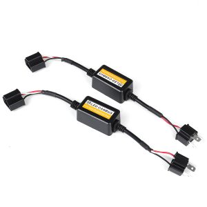 2pcs 12V H7/H4 25W LED Headlight Decoder Canbus Error Free Resistor Canceller