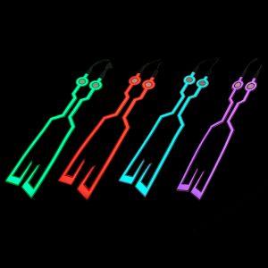 2pcs EL Cold LED Motorcycle Helmet Light Strip Sticker Luminous Night Signal 40cm