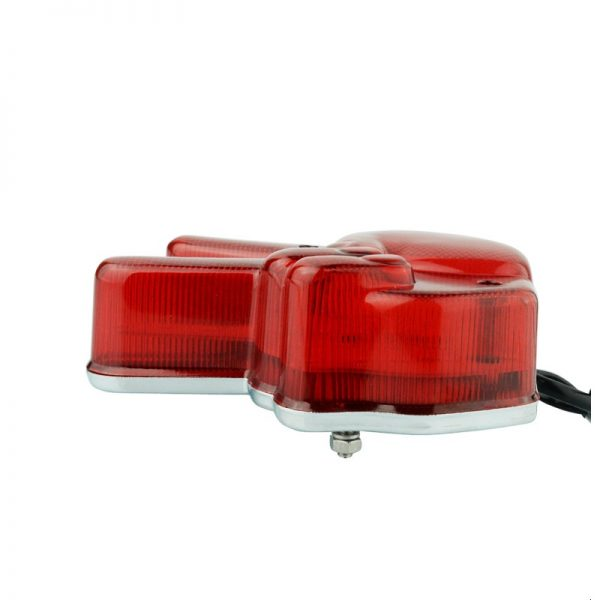 Motorcycle Hand Victory LED Red Light Stop Lamp Peace Sign Tail Light For Cafe Racer Chopper Bobber Custom Universal