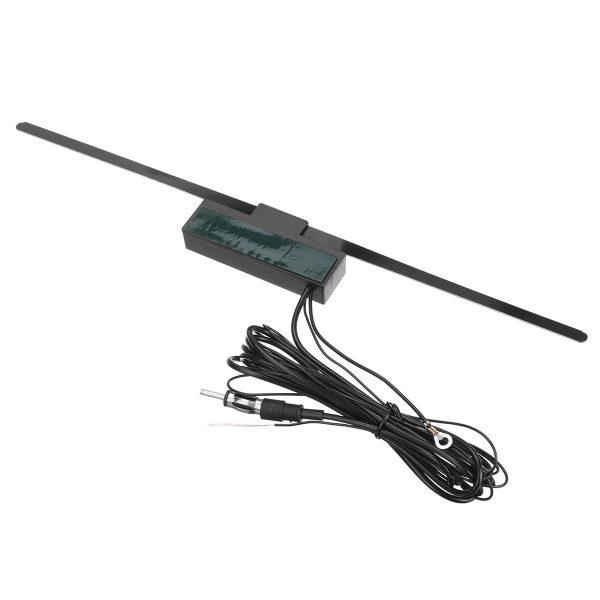 12V Universal Electronic Antenna Van Radio Window FM AM Stereo Adhesive