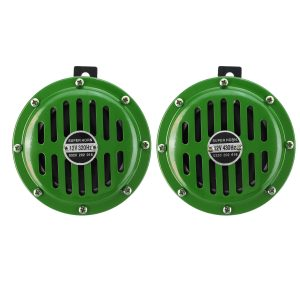 Pair 12V 115dB Horn Compact Super Tone Loud Blast Stainless Steel 4 Colors