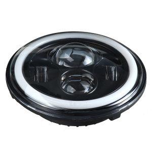 "5.75 Round LED Headlight Blue Halo Ring Angel Eyes For Jeep Wrangler JK TJ LJ CJ"""