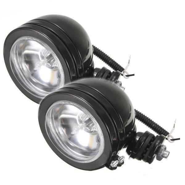 2Pcs 12V 55W H3 Bulb Spot Lightt Fog Light Working Lamp For ATV SUV