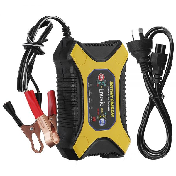 Enusic BC1901 6V/12V 2A 6A 10A Pulse Repair Battery Charger For Car Motorcycle Lead Acid Battery Agm Gel Wet