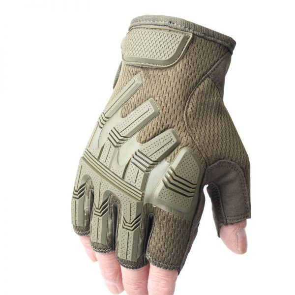 Anti-skid Safety Military Army Half Finger Tactical Gloves Motorcycle Motocross Bike Riding Cycling Sport Hiking Shooting Protective Gloves